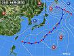 2020年09月28日の実況天気図