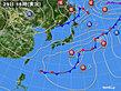 2020年09月29日の実況天気図