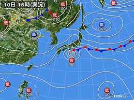 実況天気図(2020年10月10日)