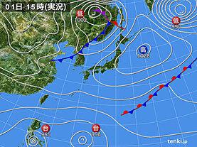 実況天気図(2020年11月01日)