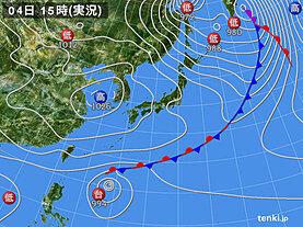 実況天気図(2020年11月04日)
