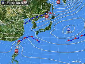 実況天気図(2020年11月06日)