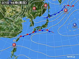 実況天気図(2020年11月07日)