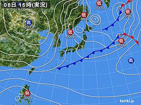 実況天気図(2020年11月08日)