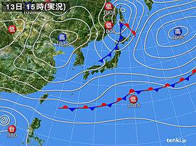 実況天気図(2020年11月13日)