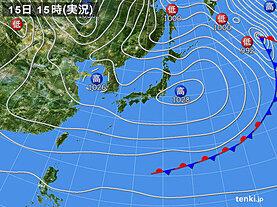 実況天気図(2020年11月15日)