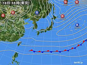 実況天気図(2020年11月16日)