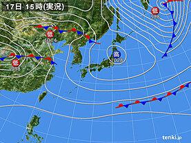 実況天気図(2020年11月17日)