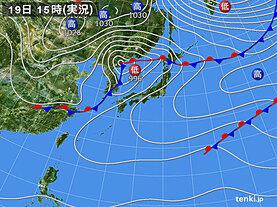 実況天気図(2020年11月19日)