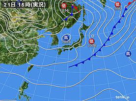 実況天気図(2020年11月21日)
