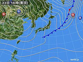 実況天気図(2020年11月23日)