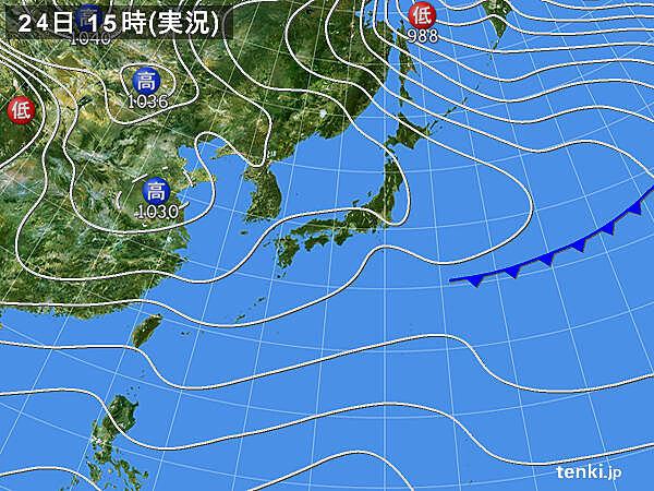実況天気図(2020年11月24日)