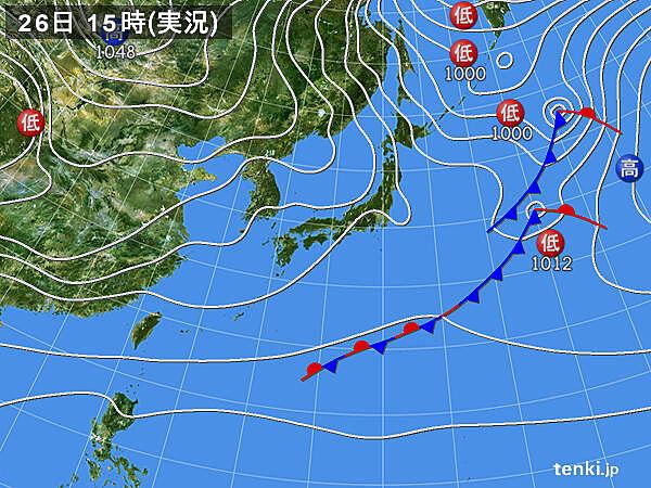 実況天気図(2020年11月26日)