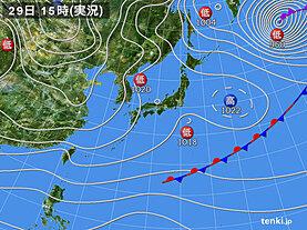 実況天気図(2020年11月29日)