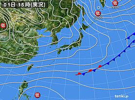 実況天気図(2020年12月01日)