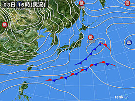実況天気図(2020年12月03日)