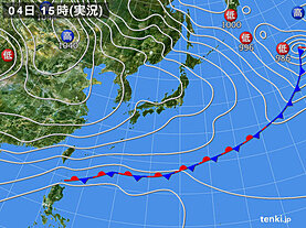 実況天気図(2020年12月04日)