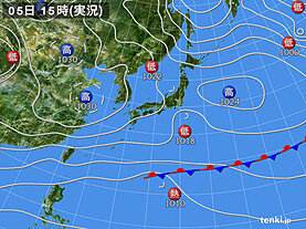 実況天気図(2020年12月05日)