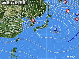 実況天気図(2020年12月29日)