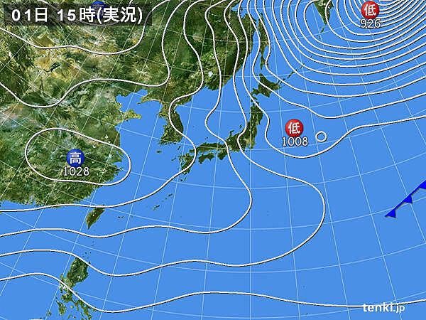 実況天気図(2021年01月01日)