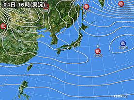 実況天気図(2021年01月04日)