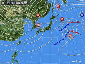 実況天気図(2021年01月06日)