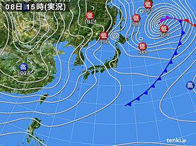 実況天気図(2021年01月08日)