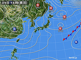 実況天気図(2021年01月09日)