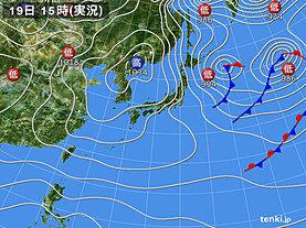 実況天気図(2021年01月19日)