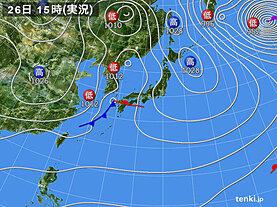 実況天気図(2021年01月26日)