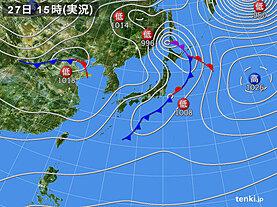 実況天気図(2021年01月27日)