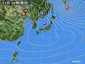 実況天気図(2021年01月31日)