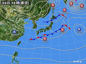 実況天気図(2021年02月06日)