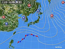 実況天気図(2021年02月12日)