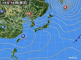 実況天気図(2021年02月19日)