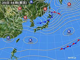 実況天気図(2021年02月20日)