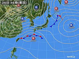 実況天気図(2021年02月26日)