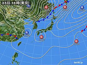 実況天気図(2021年03月05日)