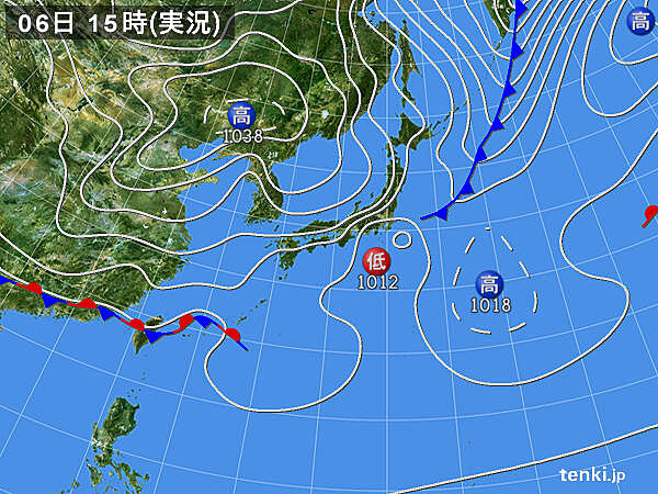 実況天気図(2021年03月06日)
