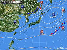 実況天気図(2021年03月09日)