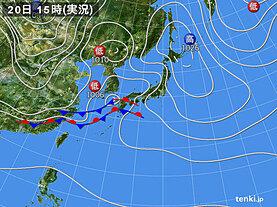 実況天気図(2021年03月20日)