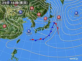 実況天気図(2021年03月29日)