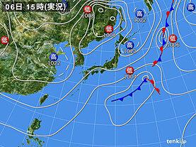 実況天気図(2021年04月06日)