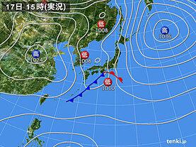実況天気図(2021年04月17日)