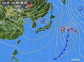 実況天気図(2021年04月26日)