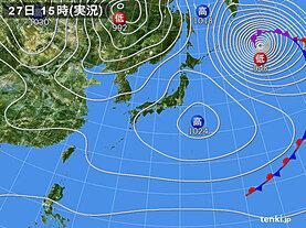 実況天気図(2021年04月27日)
