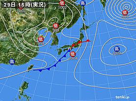 実況天気図(2021年04月29日)