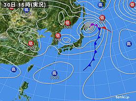 実況天気図(2021年04月30日)