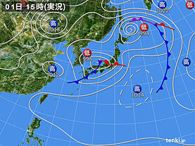 実況天気図(2021年05月01日)