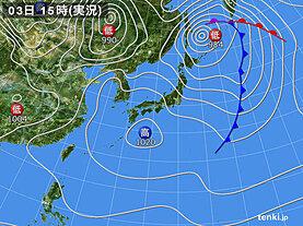 実況天気図(2021年05月03日)